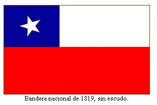 CHILE BANDERA 1819